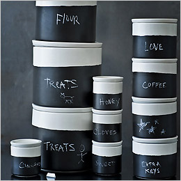 Chalkboard Utility Jars by Canvas