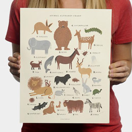 Animal Alphabet Print for Sevenly