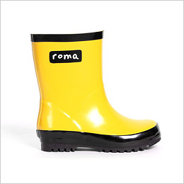 Glossy Yellow Rain Boot by Roma Boots