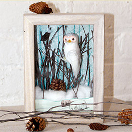 Make It! Snowy Owl Shadowbox