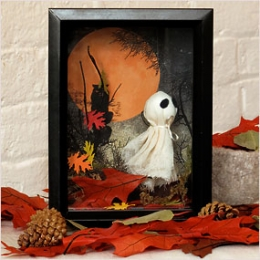 Ghostly Halloween Shadowbox